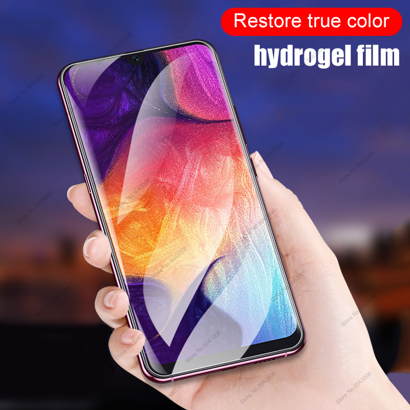 Hydrogel Film For <font><b>Samsung</b></font> Galaxy A30S A50S A30 A50 S <font><b>A</b></font> 30 <font><b>50</b></font> S 30S 50S Not <font><b>Glass</b></font> Soft Film A80 A70 A60 A40 A20 A10 Screen Covers image