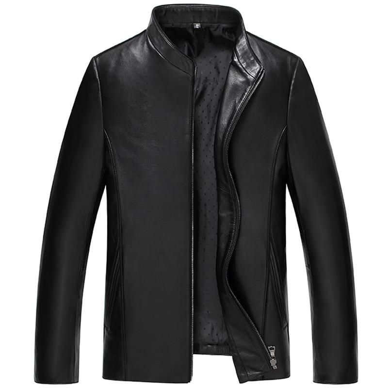 Korean Genuine Leather Jacket Men Clothes 2020 Short Sheepskin Coat Slim Fit Motorcycle Leather Jackets ZDY0012 KJ2287