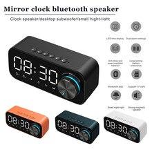 Alarm Clock Bluetooth Speaker FM  Digital Display Alarm Clock Radio LED Wireless Subwoofer Music Player Table Clock Voice Prompt