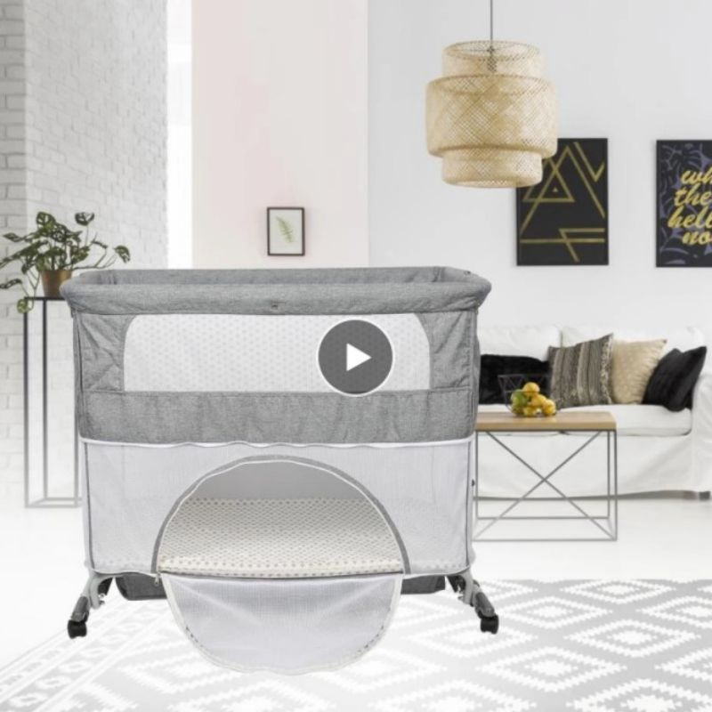Multifuction Baby Crib Splicing Large Kid Bed Removable Baby Play Bed Combo Portable Folding Newborn Cot Bedside Bed Cradle HWC
