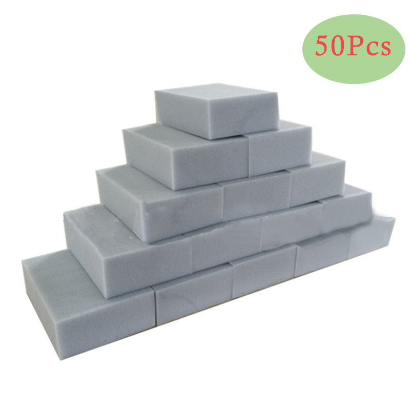 50 pçs/lote cinza esponja mágica borracha limpeza multi-funcional melamina esponja 100*60*20mm atacado