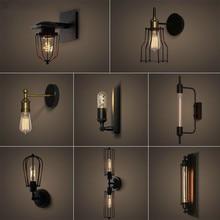 American Morden Industrial Wind Aisle lámpara de pared Simple Retro estilo LED creativo dormitorio mesita de noche cabina lámpara de pared luces Cherub