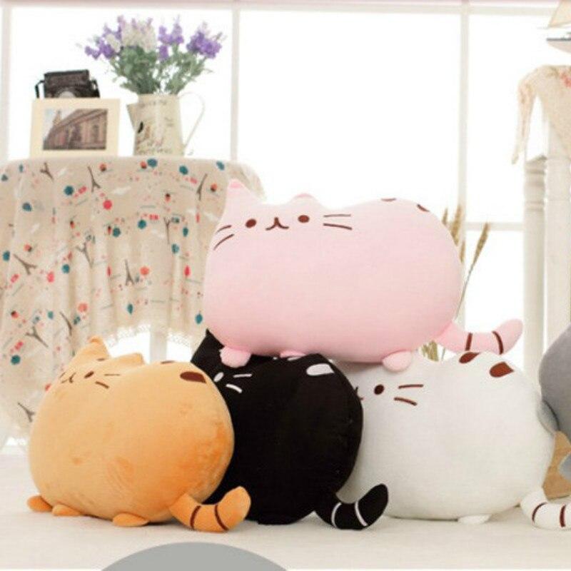 40cm*30cm Cookie Cat Cartoon Cute Pillow Fat Face Doll Plush Toy Sofa Cushion