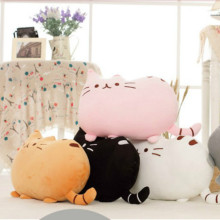 40cm*30cm Cookie Cat Cartoon Cute Pillow Fat Face Doll Plush Toy Sofa Cushion