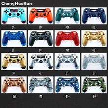 ChengHaoRan ため PS4 プロハウジングシェル PS4 ため前面背面ハードケースカバープロ/スリム 4.0 V2 世代 2th コントローラ JDM 040 JDS 040