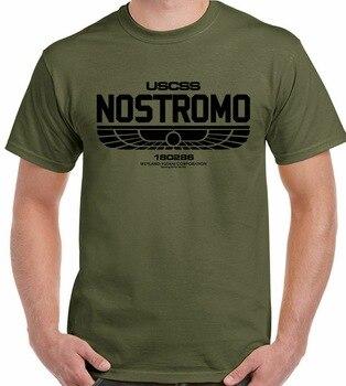 Camiseta Nostromo 180286 para hombre, película alienígena, USCSS weyland-yutani, camiseta de ciencia...