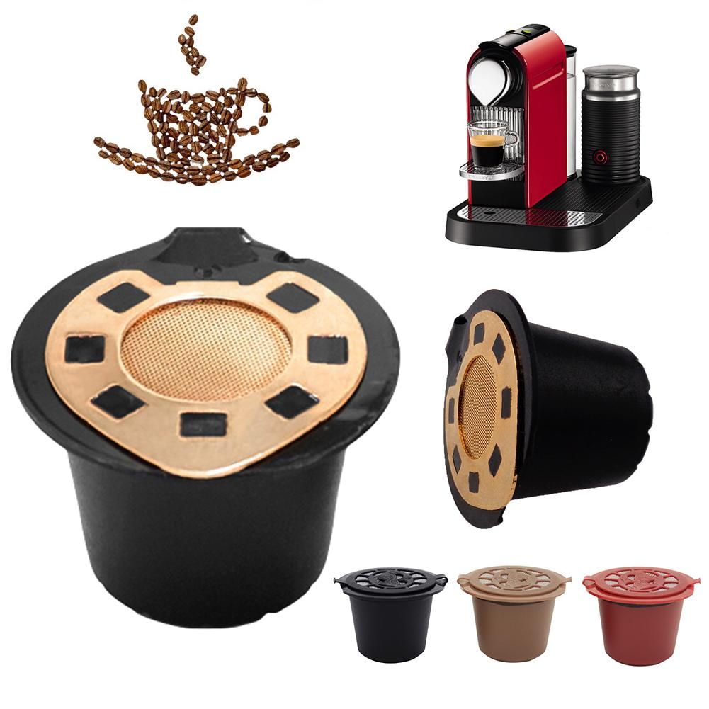 Reusable Stainless Steel Refillable Coffee Capsule Filter For Nespresso Machines Easy To Clean Kitchen Coffeeware Suppies