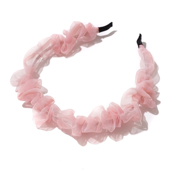 2020 New Arrival Chiffo Hairband Headband for Women Chic Girls Hair bands Elegant Lace Headwear Simple Hair Band Accessories chic beaded hairband for women