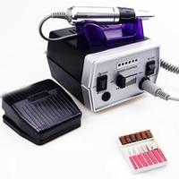 Elektryczna wiertła do paznokci 35000rpm zawód Manicure urządzenie do pedicure frez akcesoria pilnik do paznokci narzędzie do manicure Kit