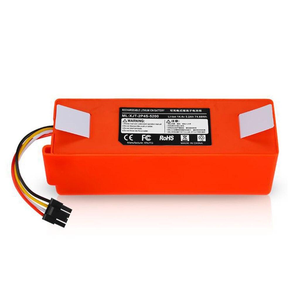 5200mAh/6500mAh Li-ion Battery Vacuum Cleaner Accessories For Xiaomi Mi Robot Robotics Cleaner Roborock S50 S51 T4 T6 Parts