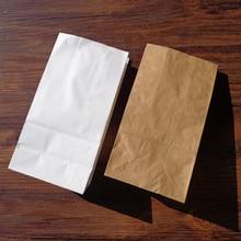 8 шт. белая крафт-бумага, стоячие пакеты, сувенир, открытая бумага для упаковки подарка, подарочная упаковка