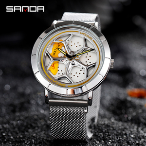 Image 3 - 2020 Hot Sell Fashion Cool Men Watch SportsCar Rotating Dial Wheel Wristwatch Waterproof Magnet Buckle Quartz Movement Gift 1022