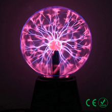 Novelty LED night light plasma touch ball lava magic light USB EU plug 3/4/5/6 inch Christmas bedroom lighting decoration light