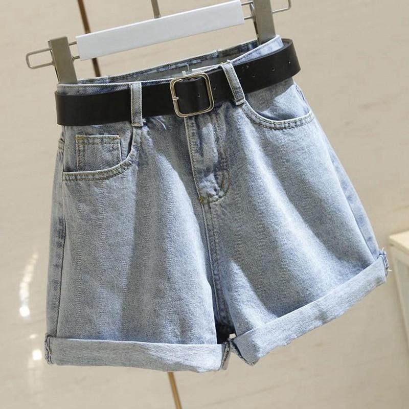 High Waist Jean Shorts Women Summer Loose Casual Short Jeans New 2020 Korean Style All-match Ladies Denim Short Pants P579