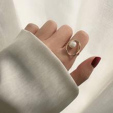 Yangliujia Metal Baroque Freshwater Pearl Ring Retro Fashion Elegant Open Finger Ring Women Jewelry Wedding Accessories