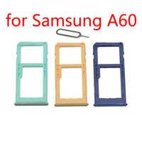 Telefone sim cartão bandeja slot para samsung galaxy a60 a6060 original celular micro sd cartão adaptador titular acessórios