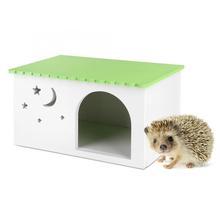 Małe zwierzę świnki morskie króliki dom zwierzęta jeż Box klatka zielona kabina zwierzęta świnka morska wiewiórka myszoskoczek dom dla zwierząt tanie tanio TOPINCN Z tworzywa sztucznego Small Pet House Wood Plastic Board