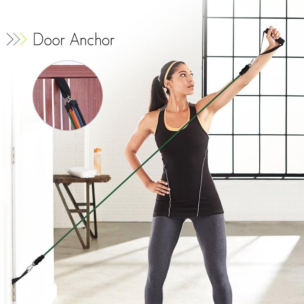 Эластичная резиновая лента для фитнеса и спортзала, 11 шт.-2