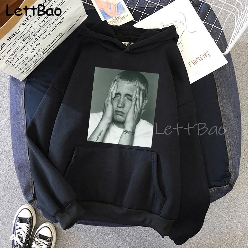 Eminem Cool Black Unisex Hoodies Sweatshirt Hip Hop Rap Punk Style Tops Pullover HipHop Rock Gothic Winter Coat Women Men Hoodie 13