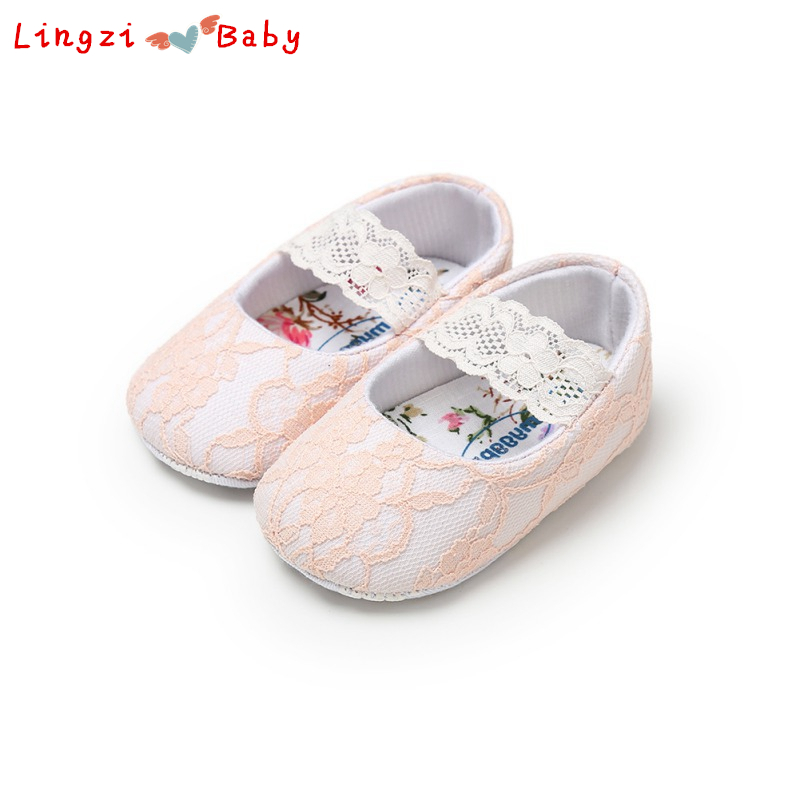 Baby Girls Shoes New Spring Lace Newborn Baby Shoes For Girls Prewalker First Walkers White Princess Shoes For Wedding Birthday