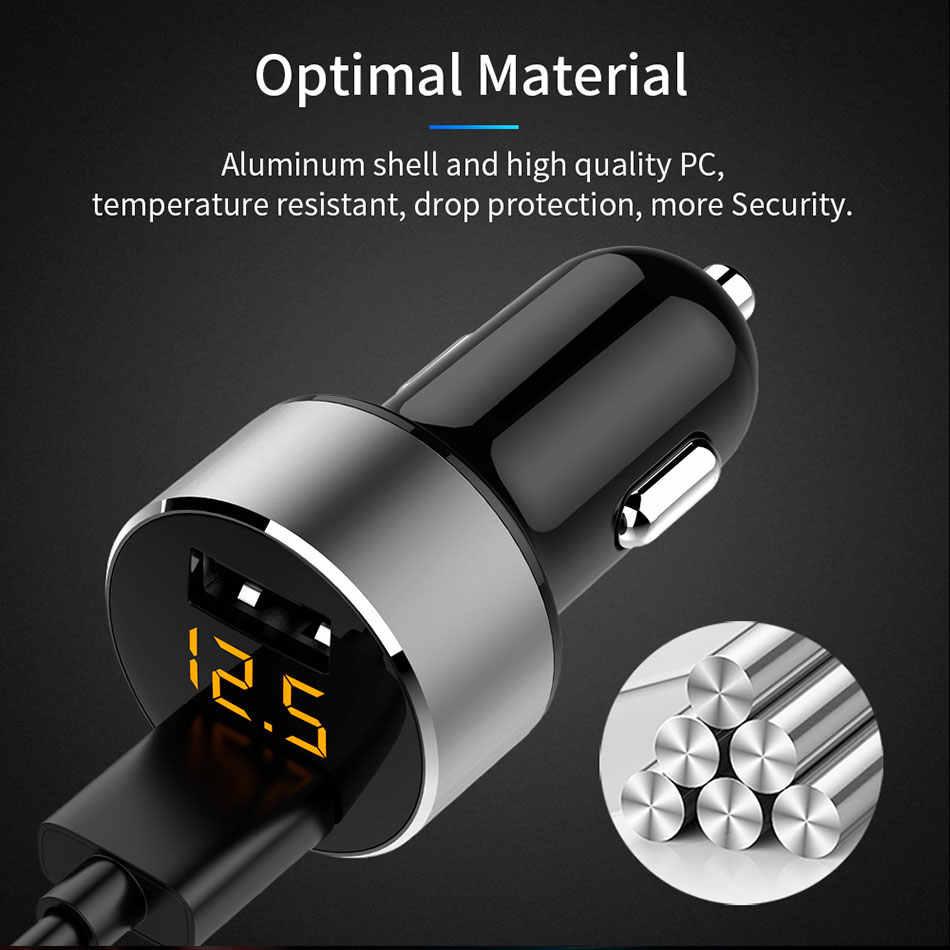 LA MÃ 3.1A 5V Dual USB Trên Ô Tô Có ĐÈN LED Hiển Thị Điện Thoại Đa Năng Trên Xe Ô Tô-Sạc cho Xiaomi Samsung S8 iPhone X 8 Plus Máy Tính Bảng v. v...