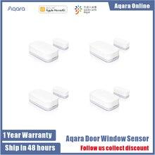 Aqara Sensor de ventana y puerta Zigbee, conexión inalámbrica, miniteclado inteligente para puerta, funciona con sensor Xiaomi homekit, control por aplicación Mi home