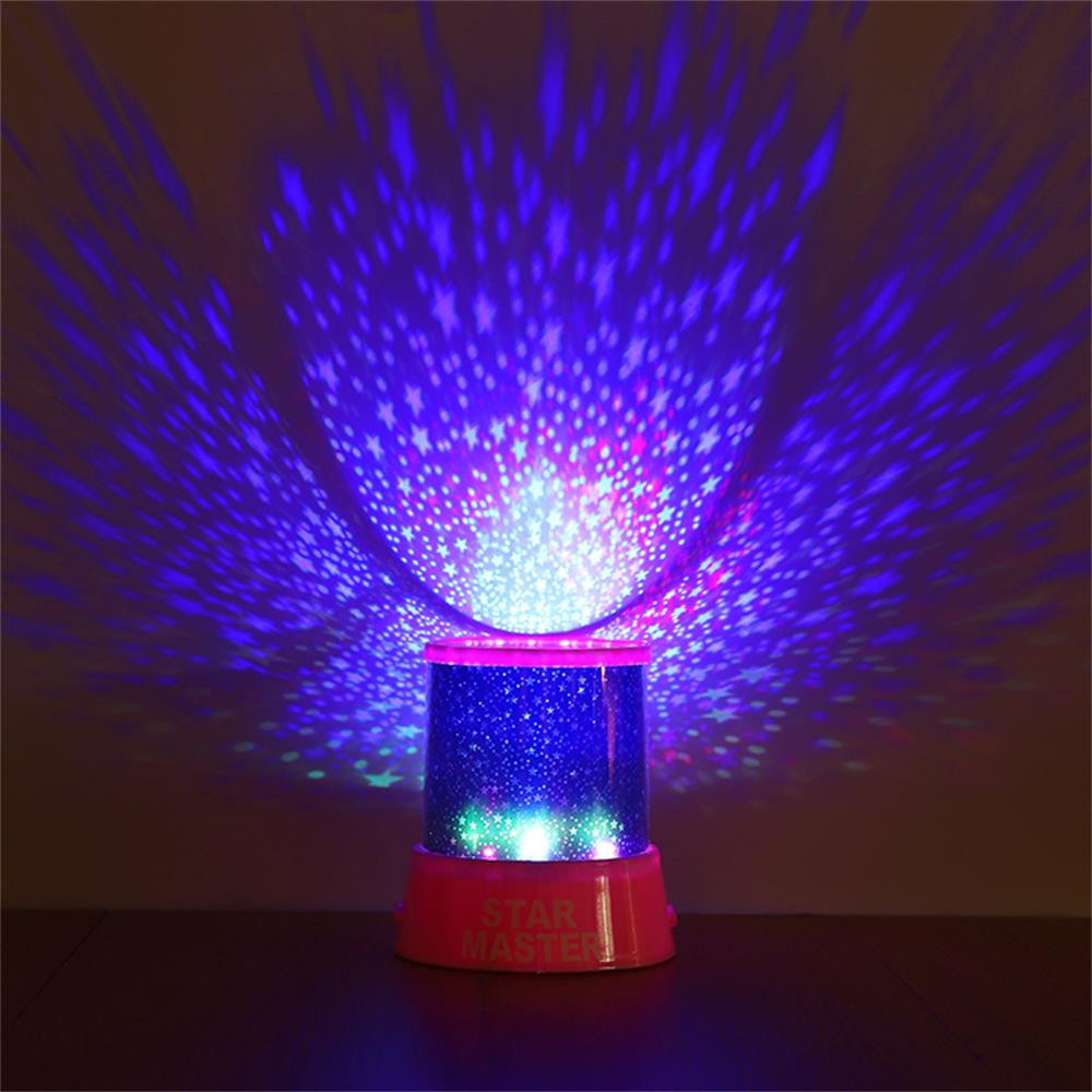 Romantic Amazing Cosmos Moon Colorful Master Star Sky Universal Night Light Kid Chidren Projector Lamp Christmas Gift Present