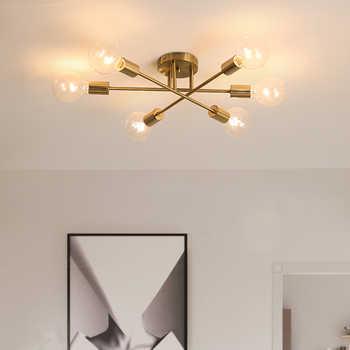 DARHYN Modern chandelier Sputnik lamps semi-embedded ceiling lamp brushed antique gold lighting 6 lights Nordic home decoration - DISCOUNT ITEM  5 OFF Lights & Lighting