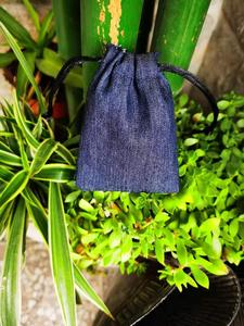 Image 4 - Cotton Jean Drawstring Bags  8x10cm 9x12cm 10x15cm 13x17cm pack of 50 Makeup Jewelry Denim Gift Pouch