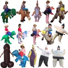 Inflatable Dinosaur Costumes for Kids Girls Boys Unicorn Cowboy Pikachu Pokemon T-Rex Fancy Dress Purim Halloween Cosplay