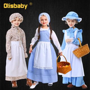 Maluch Vintage Farm Girls sukienka kwiatowa dzieci bawełna styl ludowy ubrania Halloween wydajność kolonia pokojówka kostium w stylu lolity tanie i dobre opinie Otisbaby 13-24m 25-36m 4-6y 7-12y CN (pochodzenie) CZTERY PORY ROKU Akrylowe NYLON COTTON Mesh Tribute silk Woal Kostek