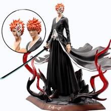 Edição de luxo anime lixívia gk kurosaki ichigo figura ação 2 cabeças estatueta pvc modelo brinquedo presente superior exibição colecionáveis 29cm