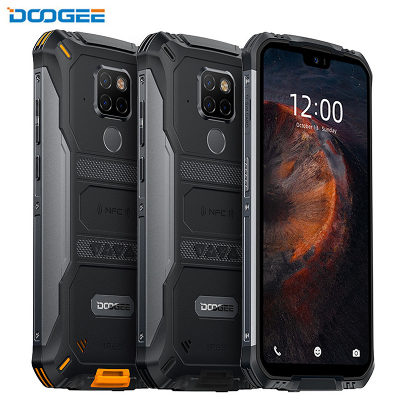 DOOGEE S68 Pro 5.84 Inch Android 9.0 Mobile Phone Rugged IP68 Drop Proof Smartphone MTK P70 6GB 128GB Cellphone 21MP AL Cameras