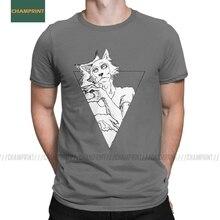 Мужская футболка Beastars Anime triangle с изображением животных, волков, пушистых манг, хлопковая одежда, новинка, футболка с коротким рукавом, футболка размера плюс