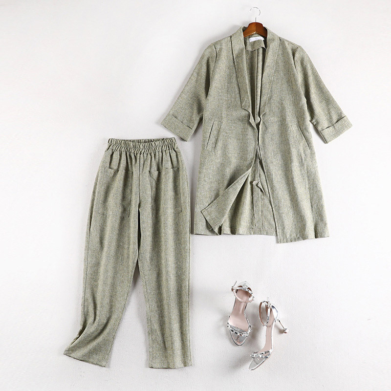 Lan Mu Square 2019 New Style Large Size Dress Large GIRL'S Size Suit Jacket Casual Fashion Trousers Set 70071