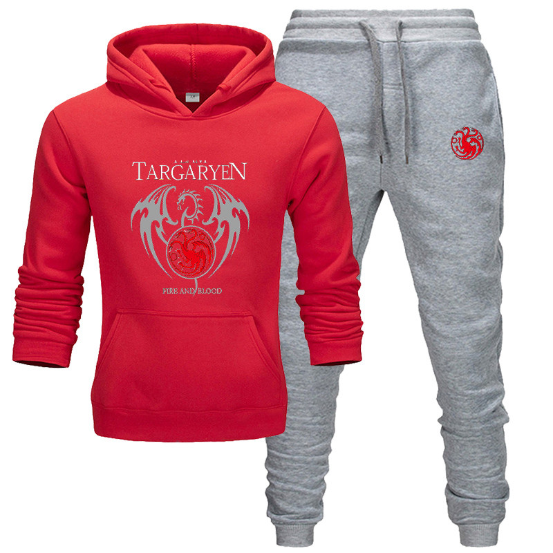 New Brand Tracksuit 2020 Fashion Hoodies For Men Sportswear Two-piece Sets Of Thick Hooded Wool + Pants Sports Suit For  Suit