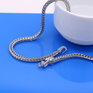 Image 4 - Mens 925 Sterling Silver Necklaces Dragon 925 Sliver Popular Necklaces Solid Silver Body Chain Jewelry Vintage Accessories