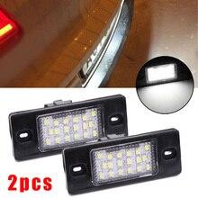 1 пара 18LED светильник номерного знака безошибочный для Touareg Tiguan BORA 08-14 18 светодиодов на лампу простой Plug And Play