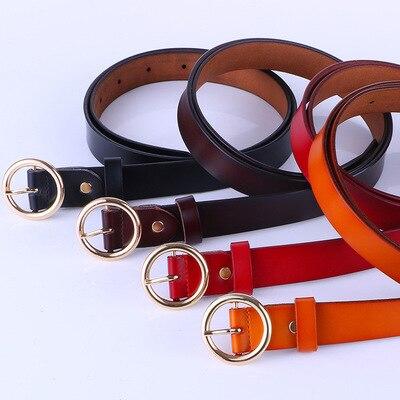 2020 female Buckle Ladies Belts Strap Students Belts for Women Leather Belts For Women luxury designer brand Belt 5