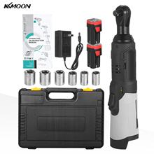 Electric Ratchet Cordless Wrench-Kit 18V 80N.M KKMOON Battery with 2-Pack Handheld 240RPM