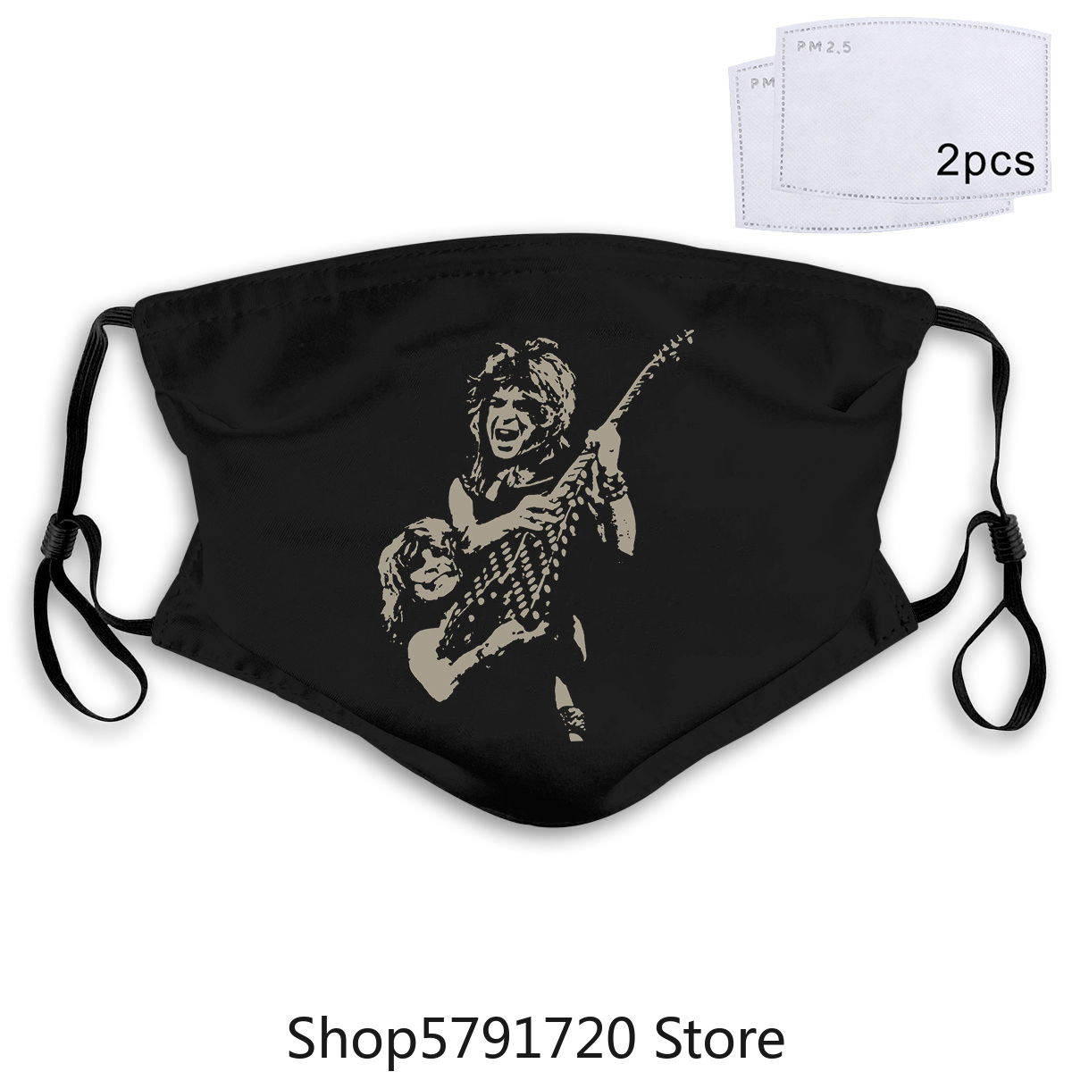 Ozzy Osbourne <font><b>Randy</b></font> <font><b>Rhoads</b></font> Tribute Black T Mask 2012 Mens L image