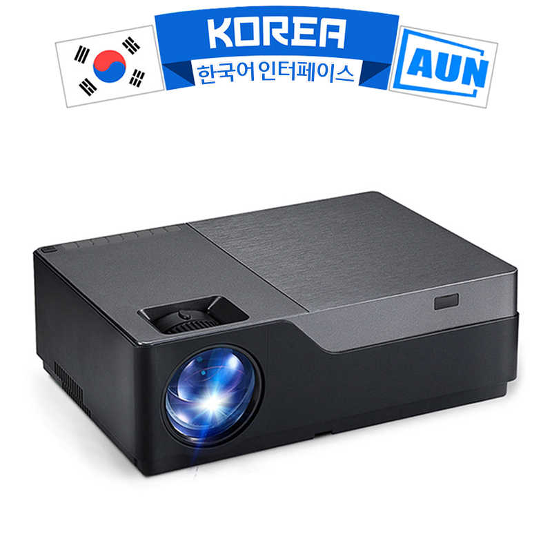 AUN Full HD 1080P Proyektor M18UP, 5500 Lumens, android 8.0 WIFI Bluetooth Video Beamer untuk 4K Home Cinema (Opsional M18 AC3)