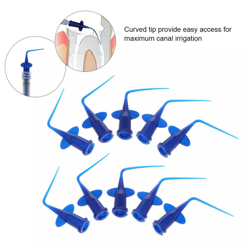 10pcs Disposable Rinse Tips For Irrigation Syringe Teeth Whitening Flexible Composite Resin Rinse Tip Endo Dental Tool