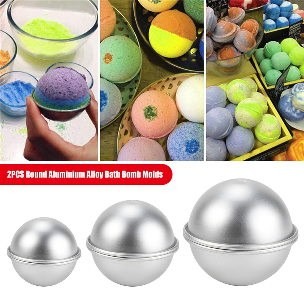 Mold Salt-Ball Bath-Bomb-Molds Sphere Crafting-Gifts Homemade Semicircle Aluminium-Alloy