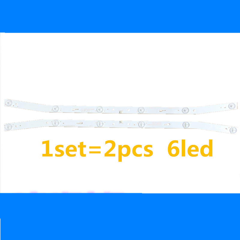 2pcs LED Blaklight Strip 6 Lamp For AKAI JS-D-JP3220-061EC E32F2000 MCPCB AKTV3222 NUOVA ST3151A05-8 V320BJ7-PE1 AKTV3212 AKTV32