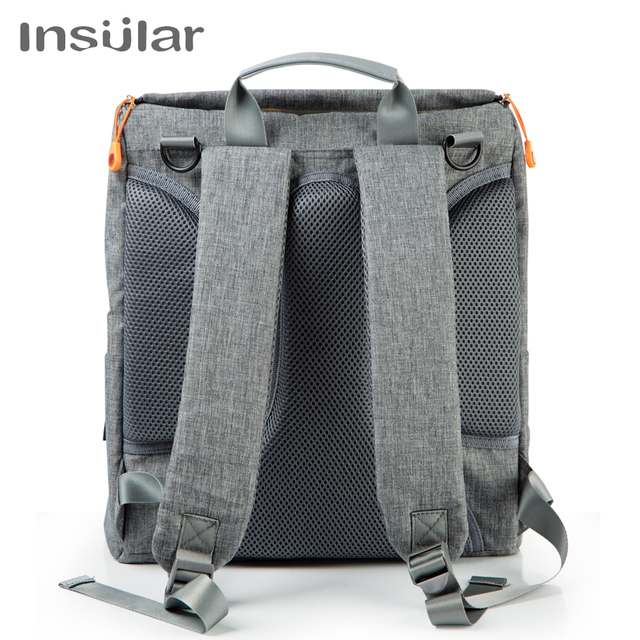 Large Capacity Baby Diaper Bag Backpack Bags and Wallets Unisex color: Black|Blue|Gray
