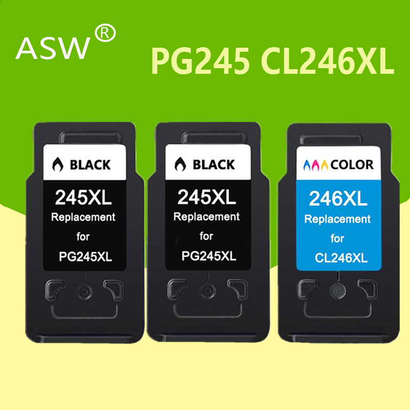ASW PG245 CL246 Ink Cartridges Replacement For Canon PG 245XL 245XL CL 246XL For Pixma IP2820 MX492 MG2924 MX492 MG2520 Printer