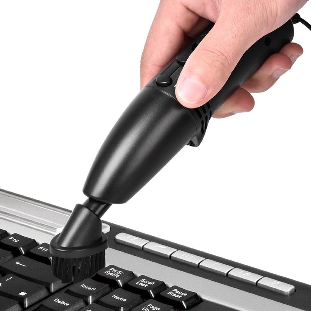 Mini USB Vacuum Cleaner For Computer PC Laptop Keyboard Dust Cleaning Brush Aspirateur 2 In 1 Portable Odkurzacz Do Klawiatury