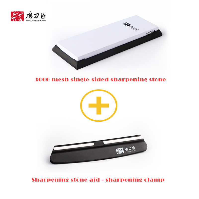 3000 mesh single-sided sharpening stone household sharpener and sharpening aid-TG7300+TG1091