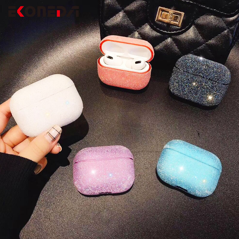 EKONEDA Protective Girl Case For Airpods Pro Case Luxury Bling Diamonds For Airpods pro Cover